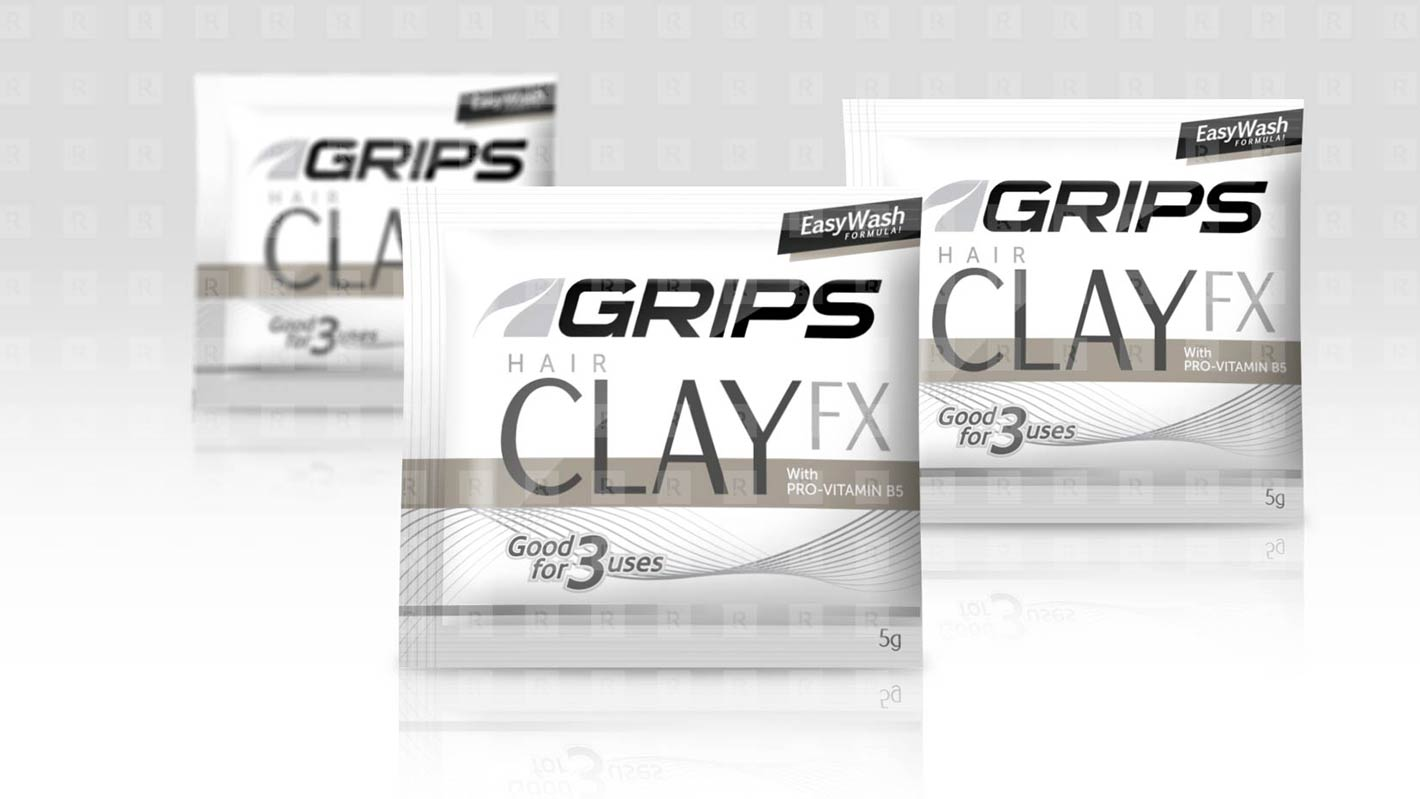 Grips Hair Clay FX  sachet design