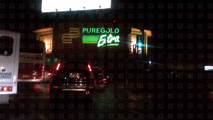Puregold Extra Signage Night Shot