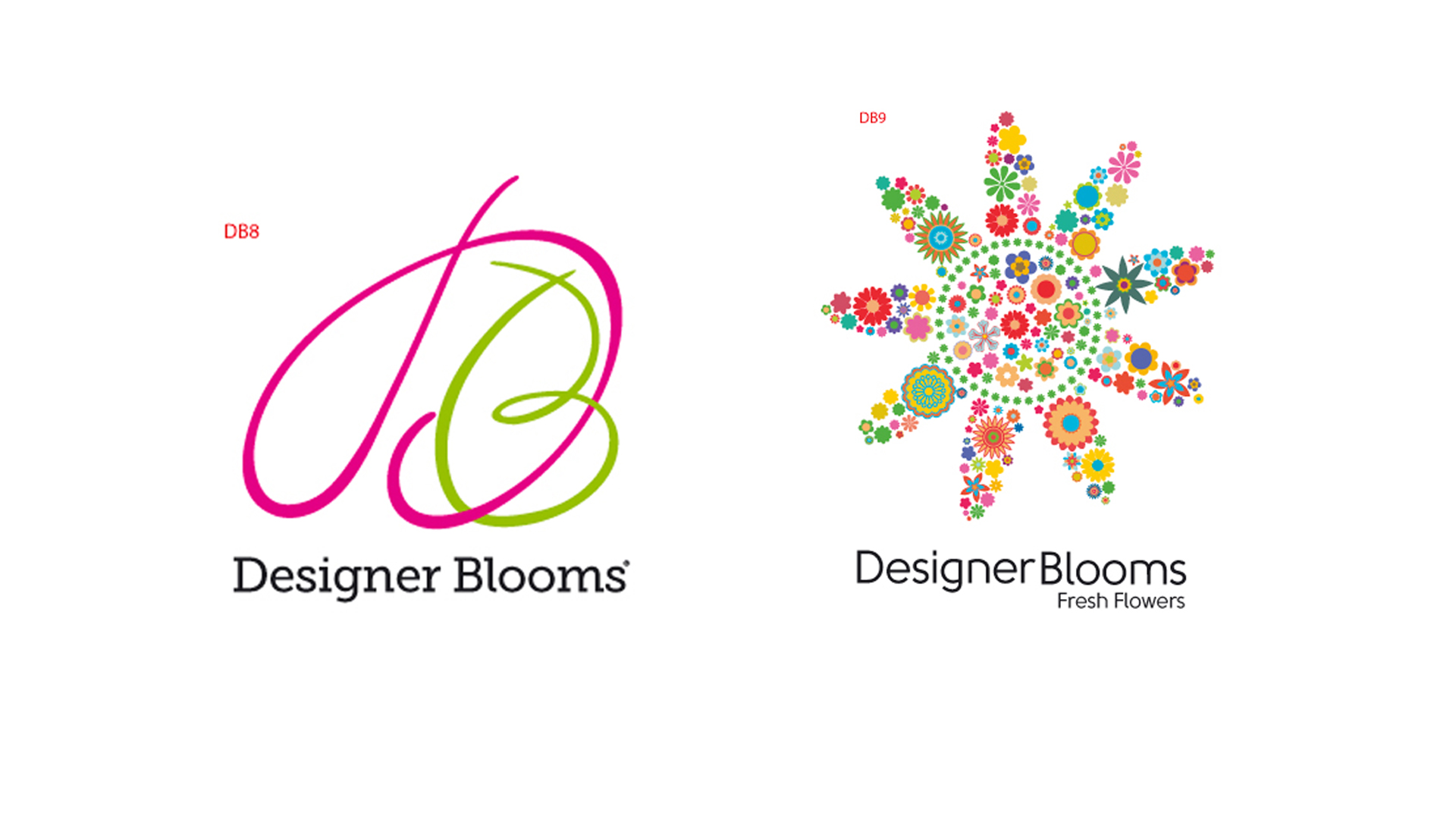 Designer Blooms Logo Design Study Set
