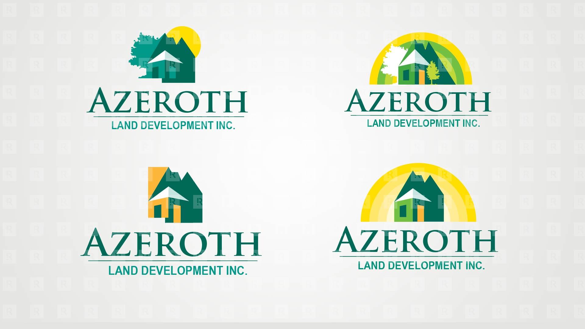 Azeroth Land Development Inc. Brand Identity studies