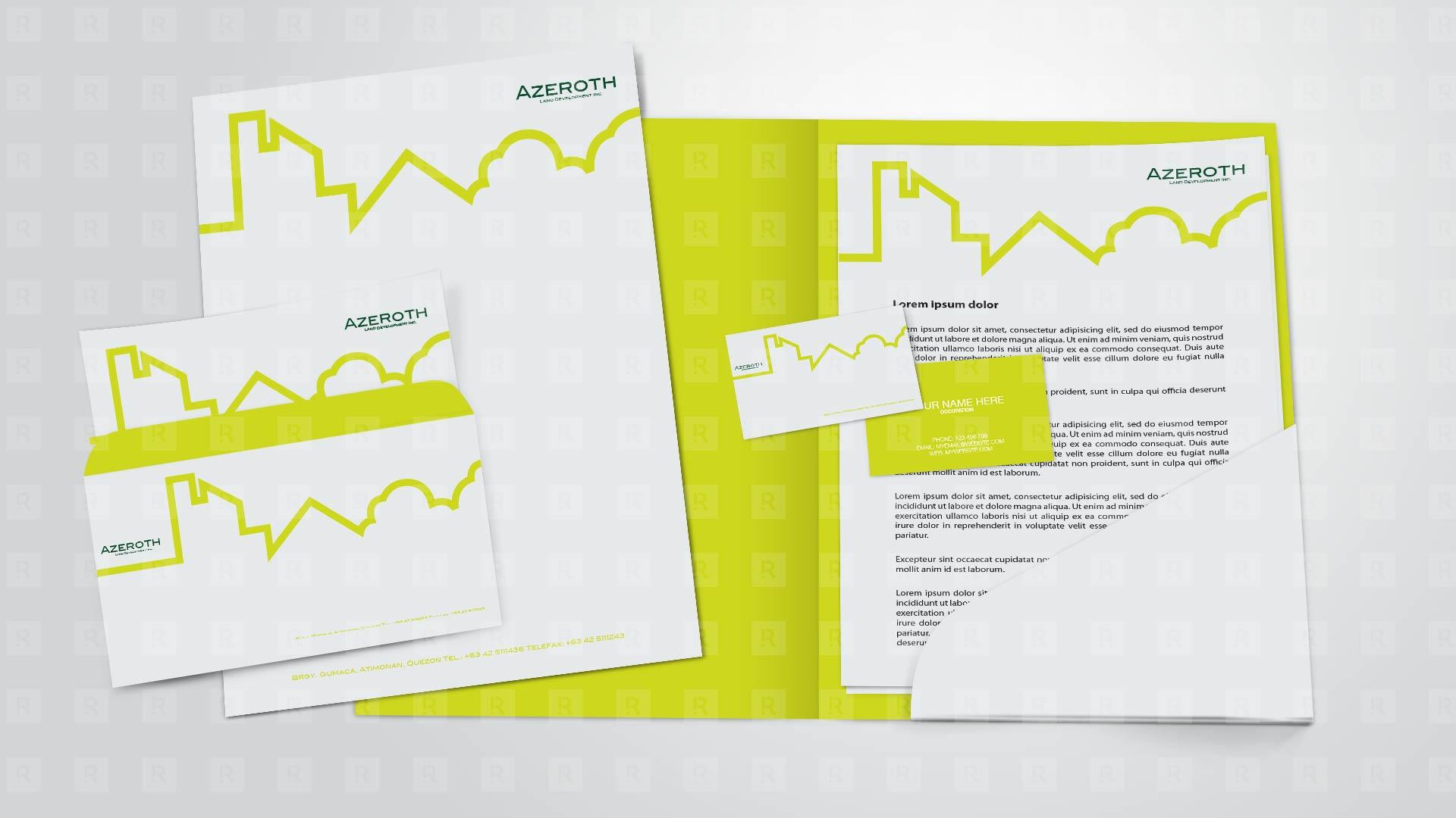 Azeroth Land Development Inc. corporate Identity Design